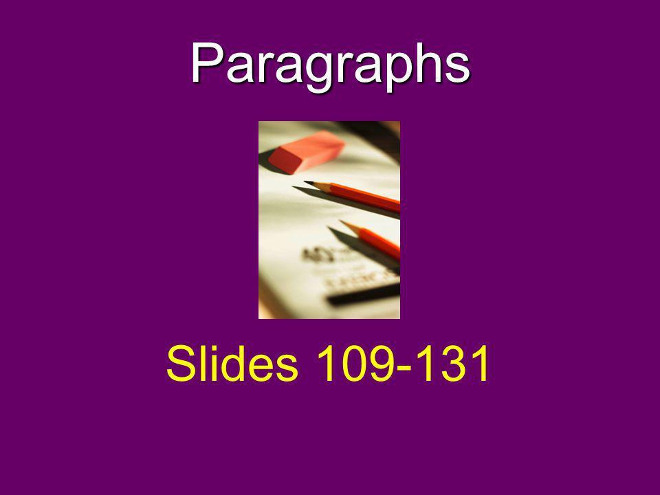 Paragraphs Slides 109-131
