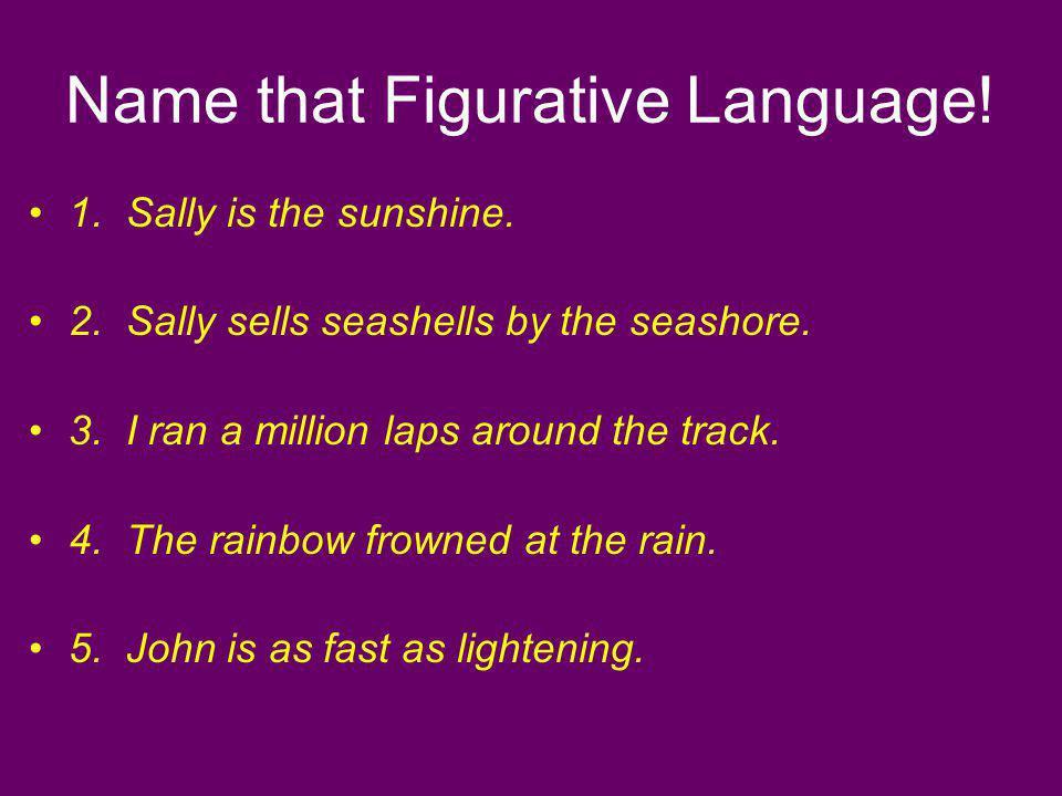 Name that Figurative Language!