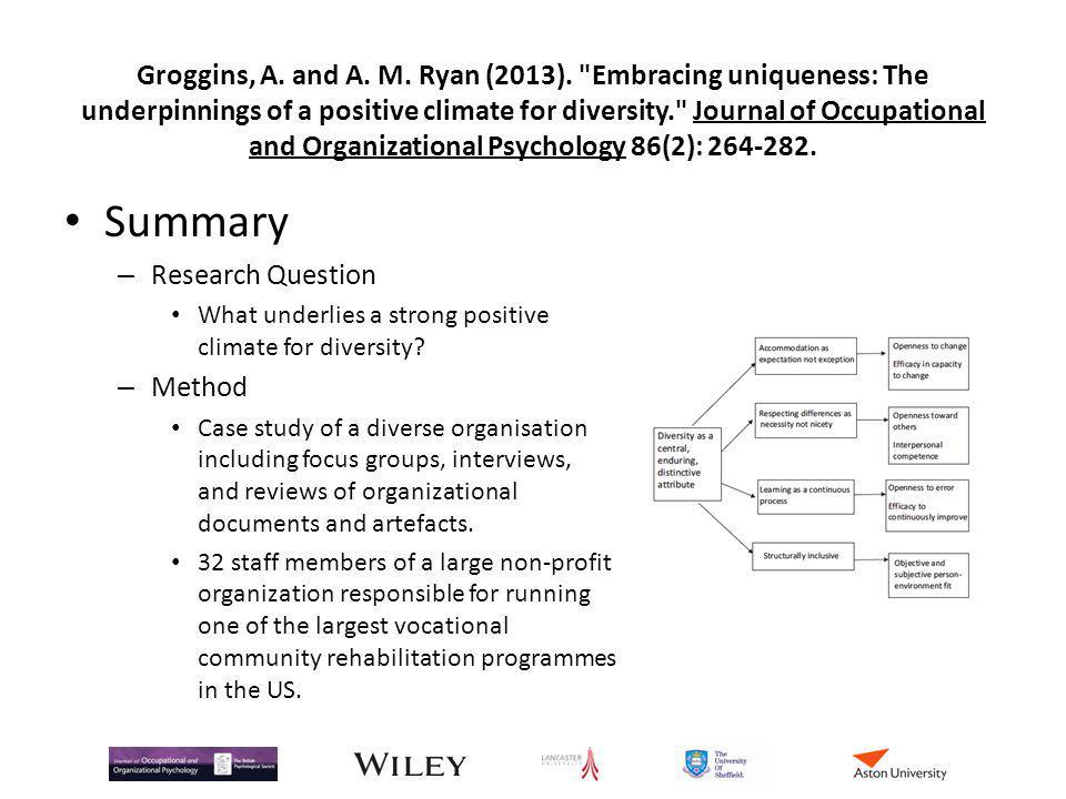 Groggins, A. and A. M. Ryan (2013)