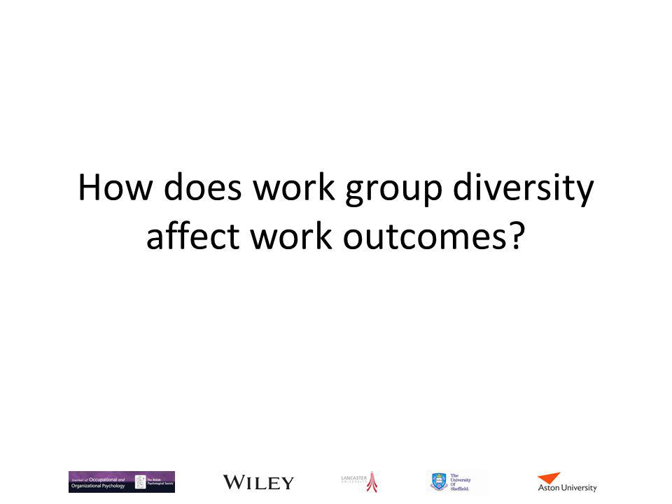 How does work group diversity affect work outcomes