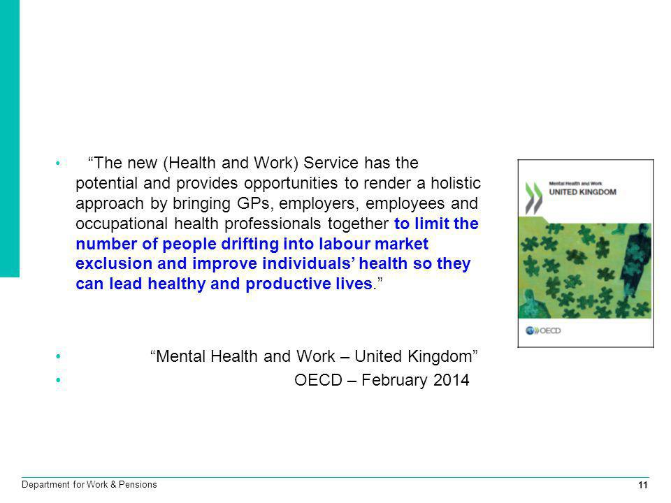 Mental Health and Work – United Kingdom OECD – February 2014