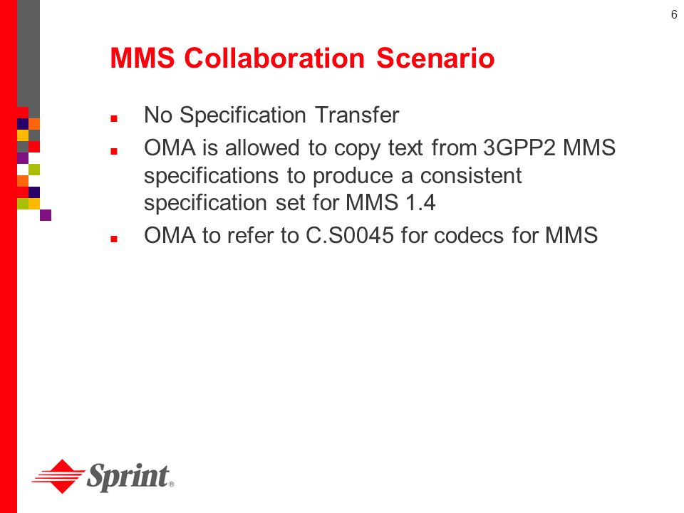 MMS Collaboration Scenario