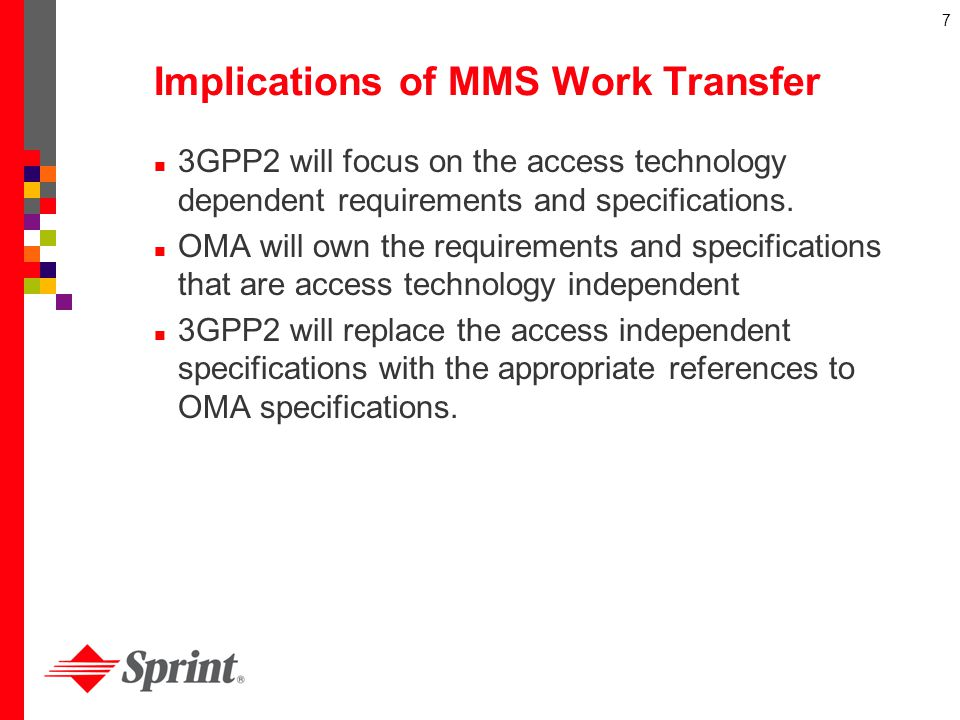 Implications of MMS Work Transfer