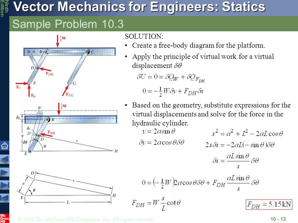 Sample Problem 10.3 SOLUTION: