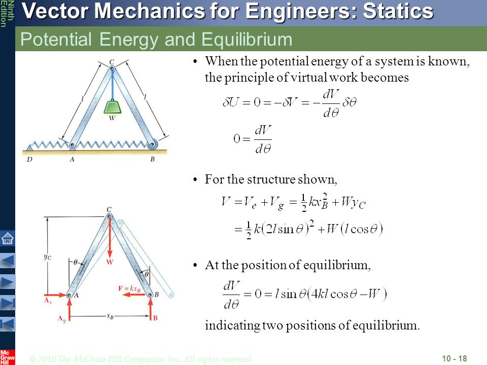 Potential Energy and Equilibrium