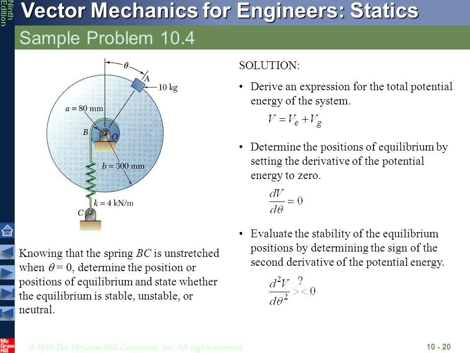 Sample Problem 10.4 SOLUTION: