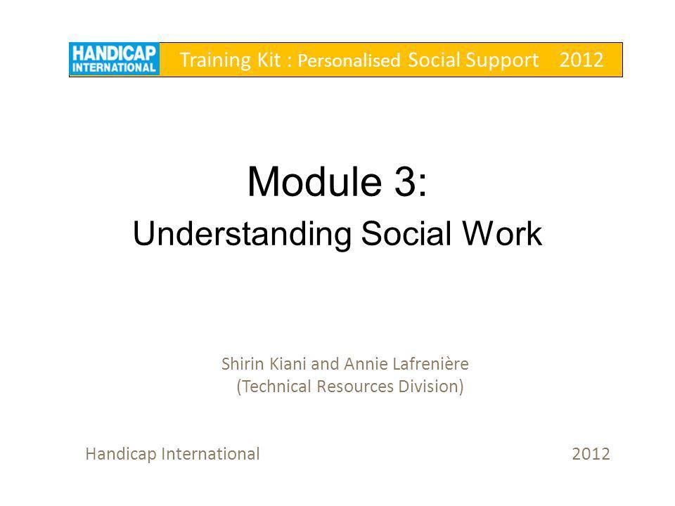 Module 3: Understanding Social Work