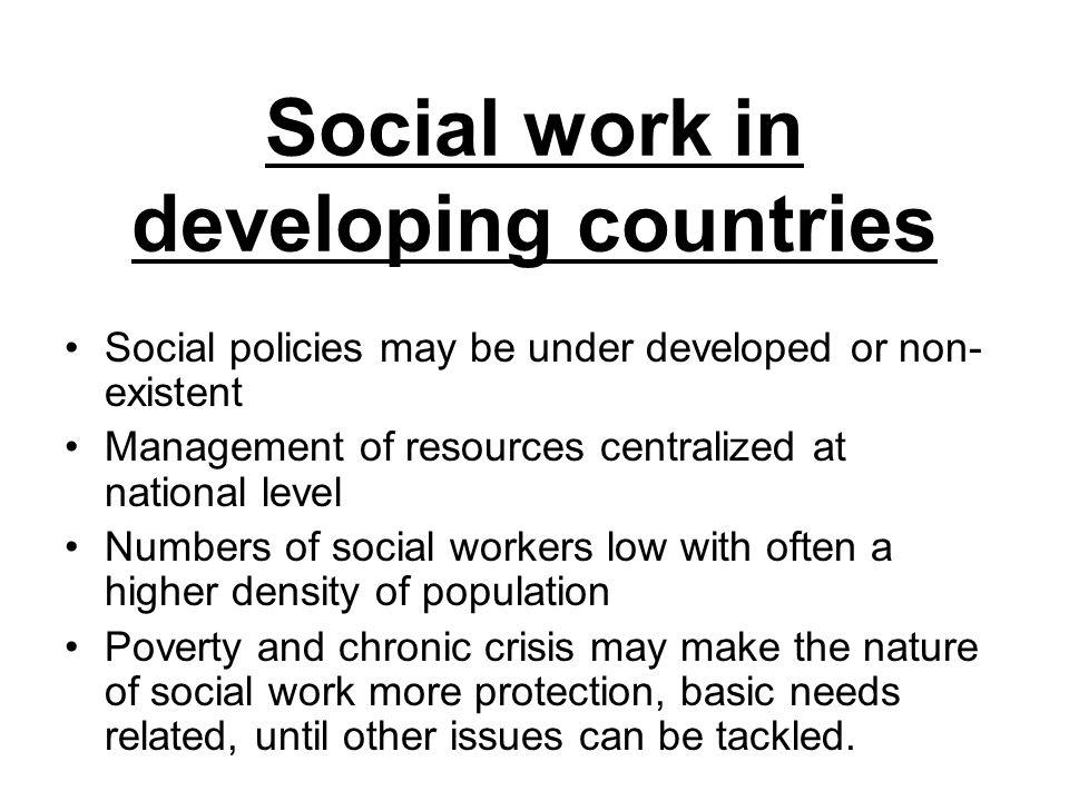 Social work in developing countries