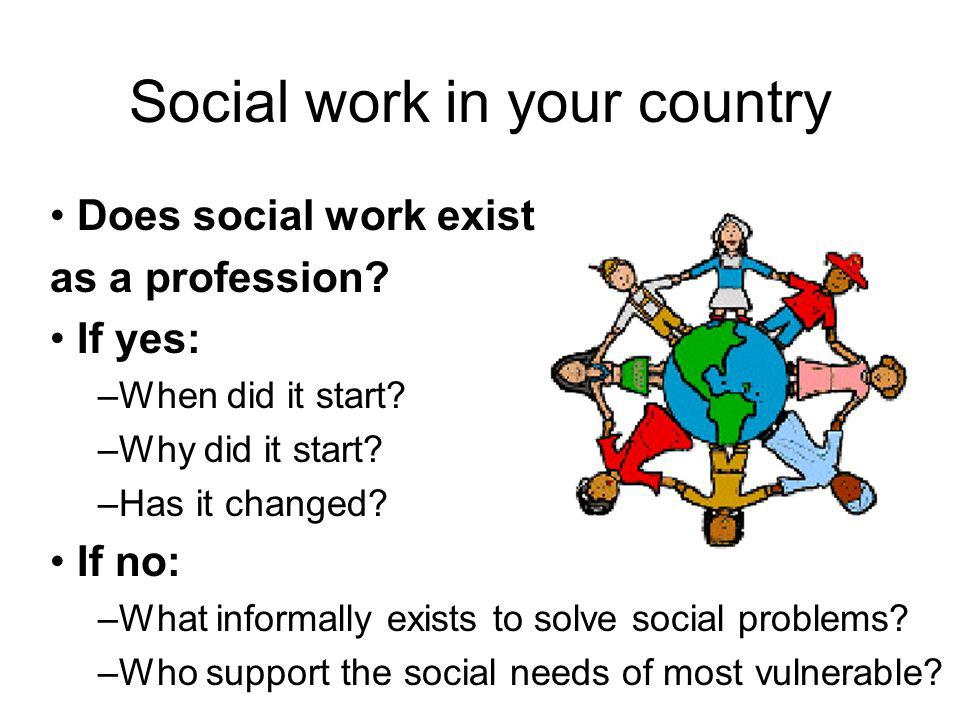 Social work in your country