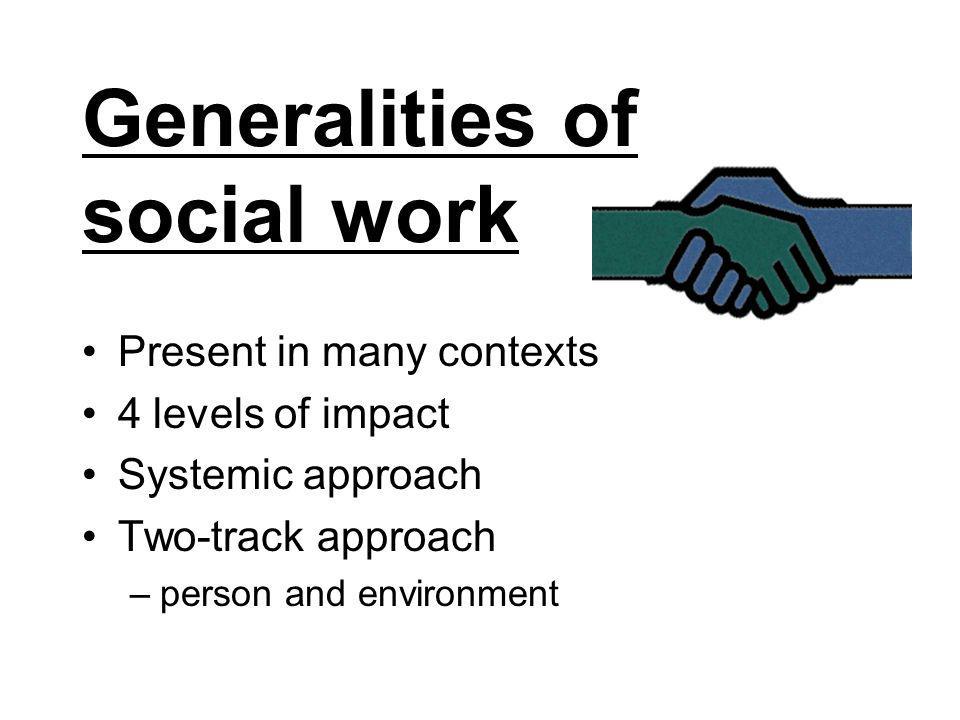 Generalities of social work