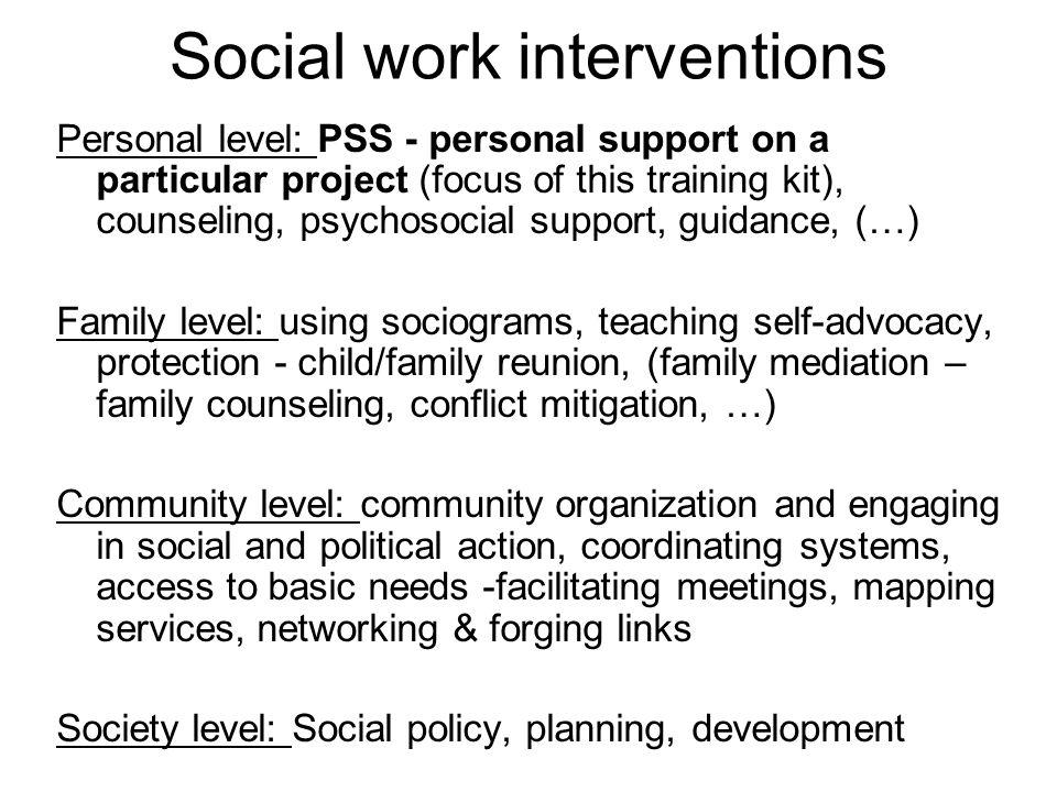 Social work interventions