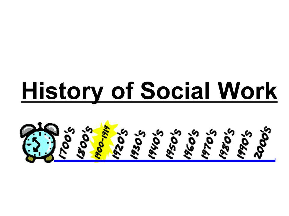 History of Social Work CONTENT: