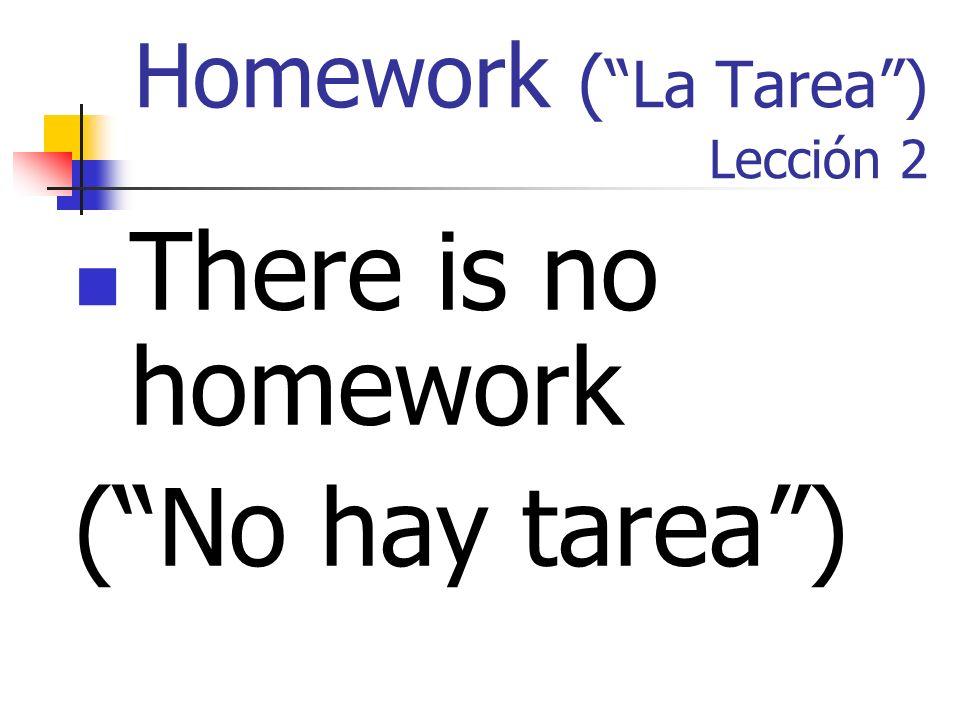 Homework ( La Tarea ) Lección 2