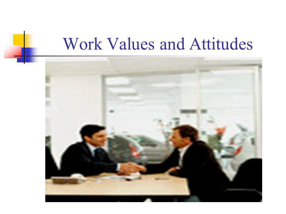 Work Values and Attitudes