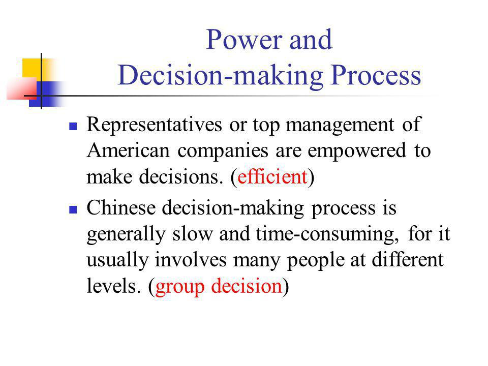 Power and Decision-making Process