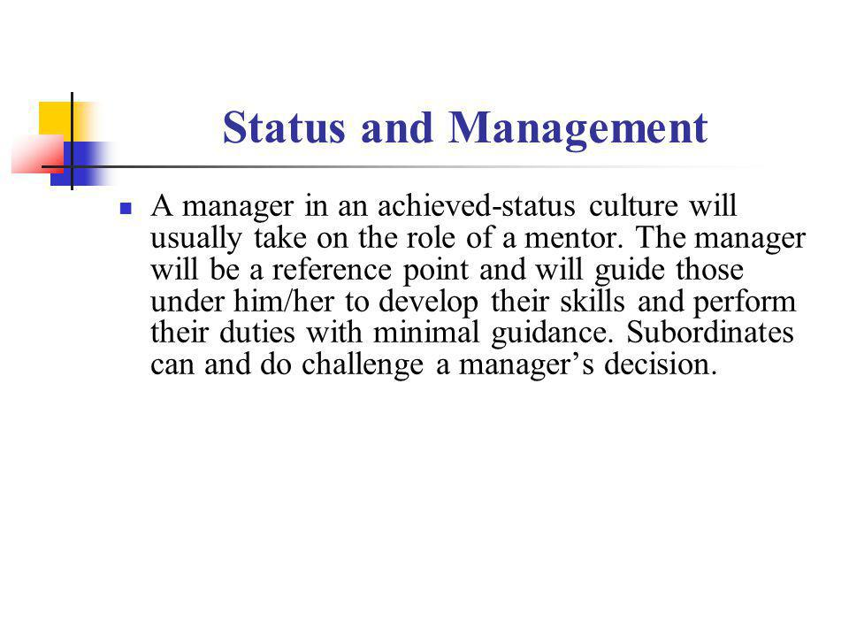 Status and Management