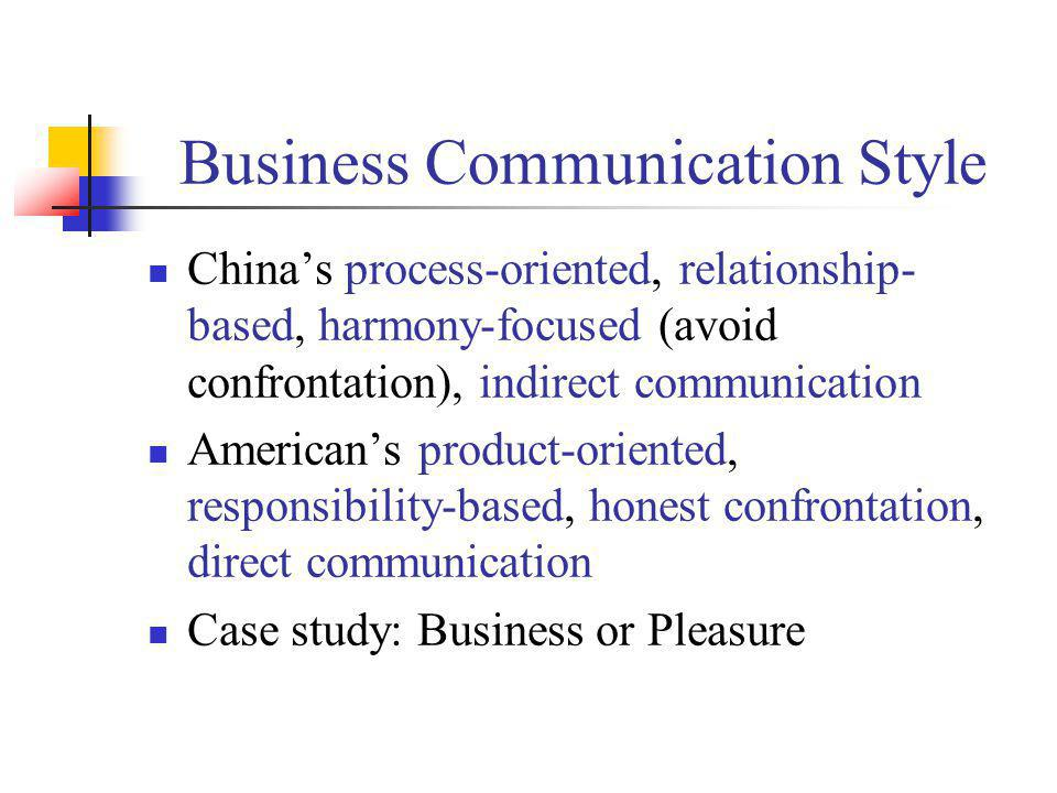 Business Communication Style