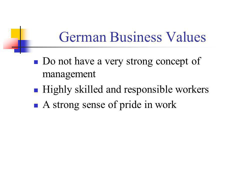 German Business Values