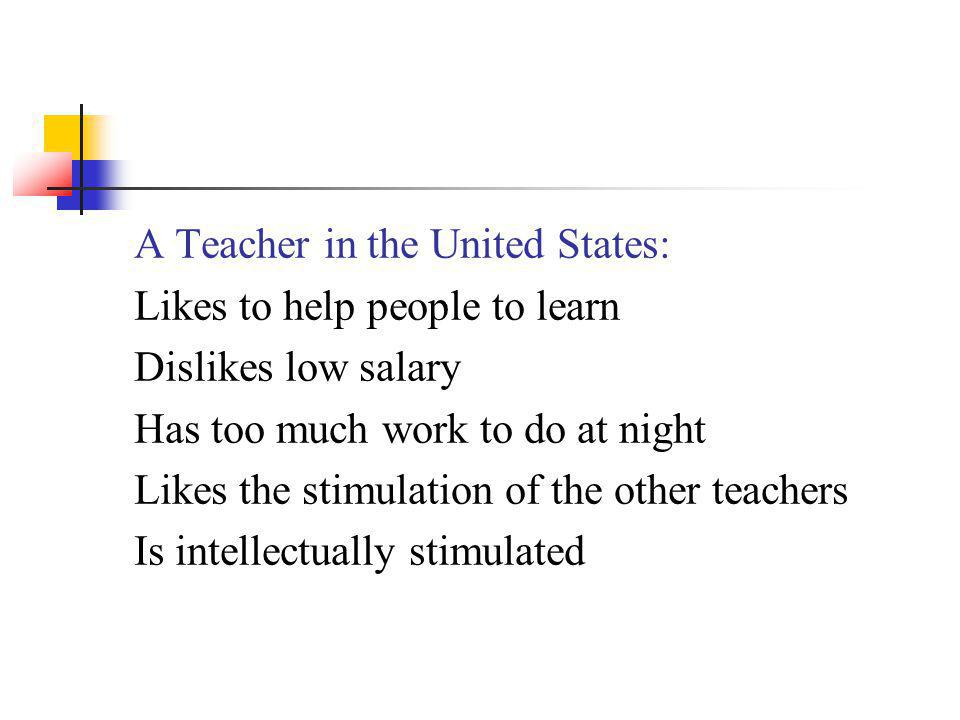 A Teacher in the United States: