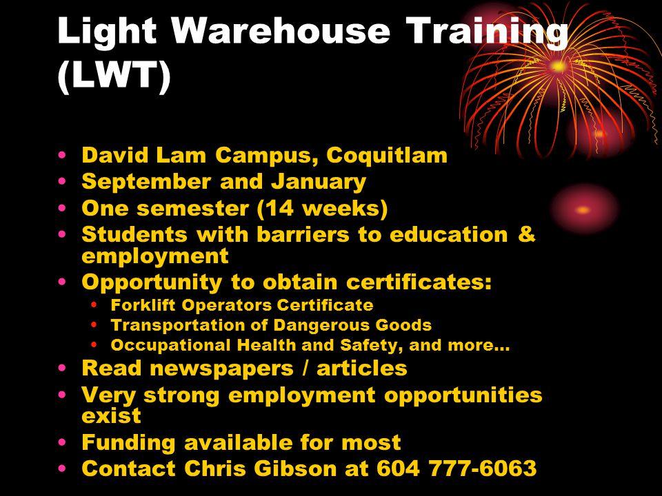 Light Warehouse Training (LWT)