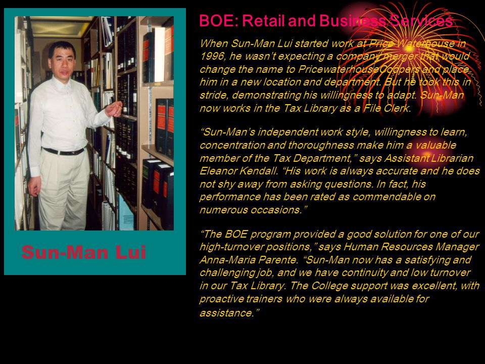 Sun-Man Lui BOE: Retail and Business Services