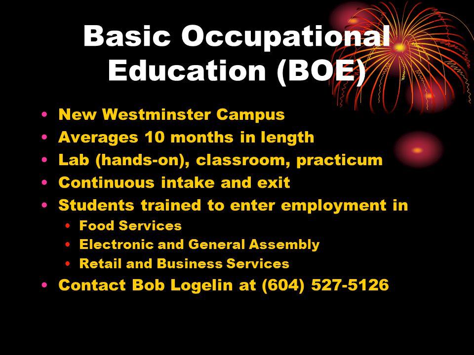 Basic Occupational Education (BOE)
