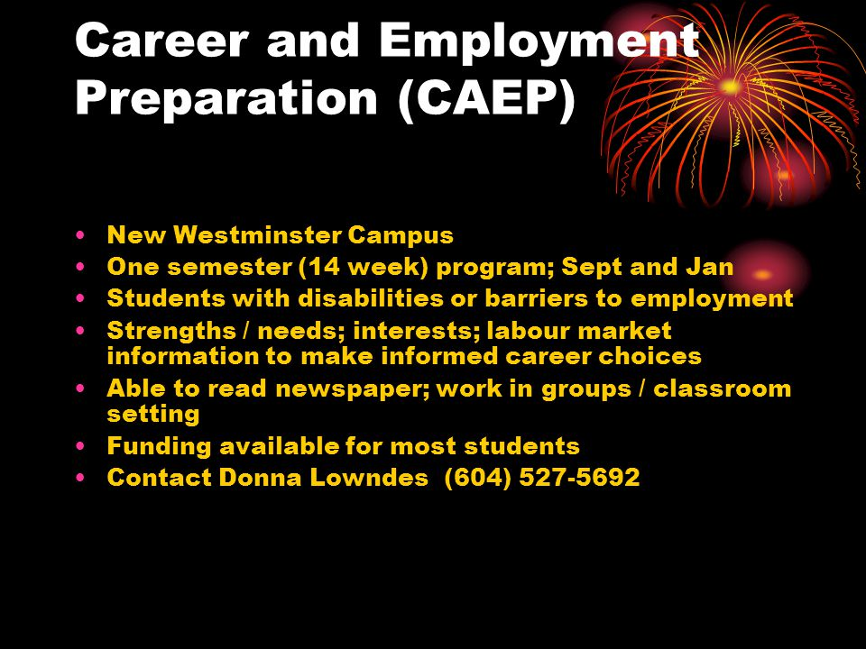 Career and Employment Preparation (CAEP)