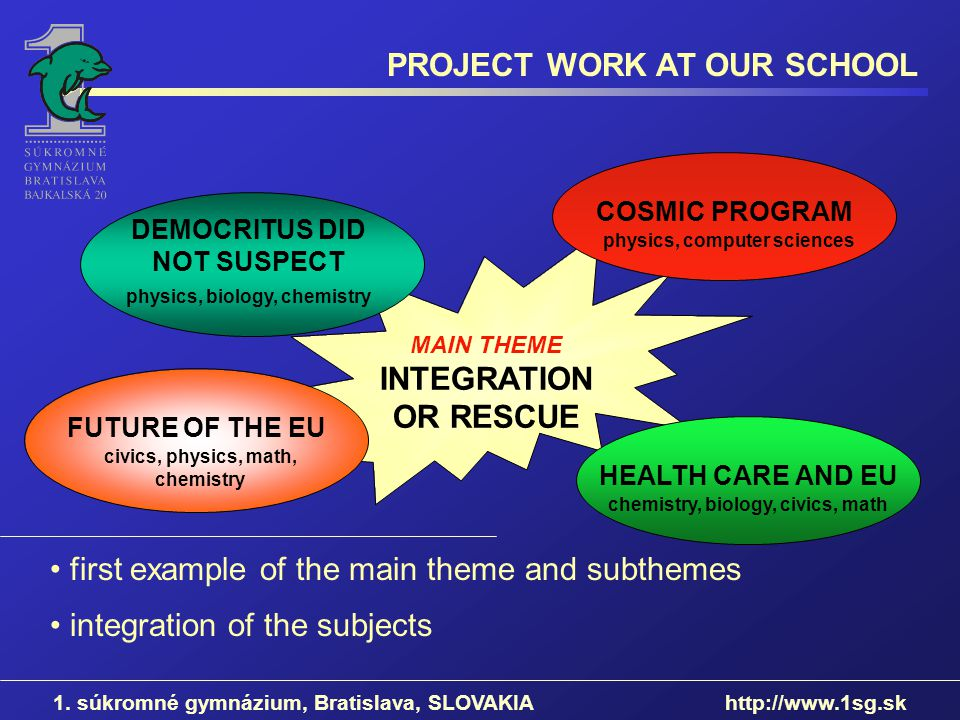 PROJECT WORK AT OUR SCHOOL