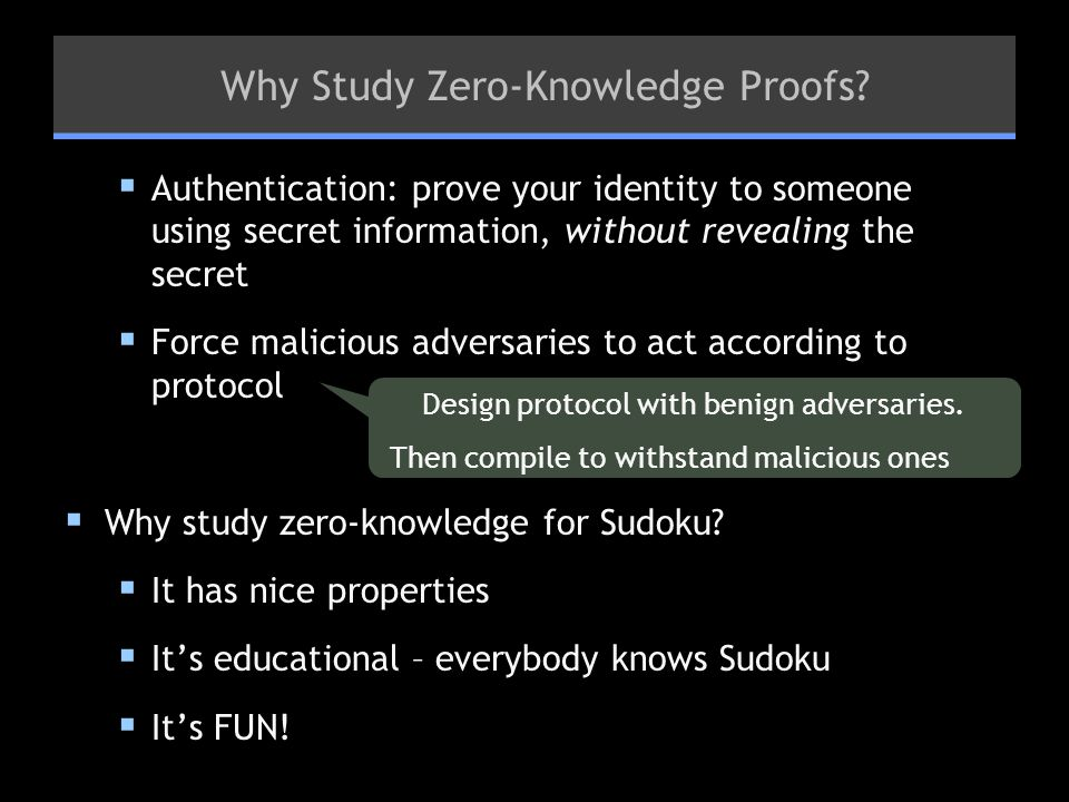 Why Study Zero-Knowledge Proofs