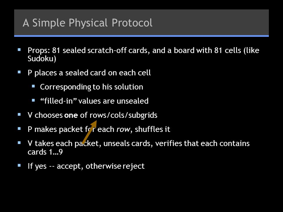A Simple Physical Protocol