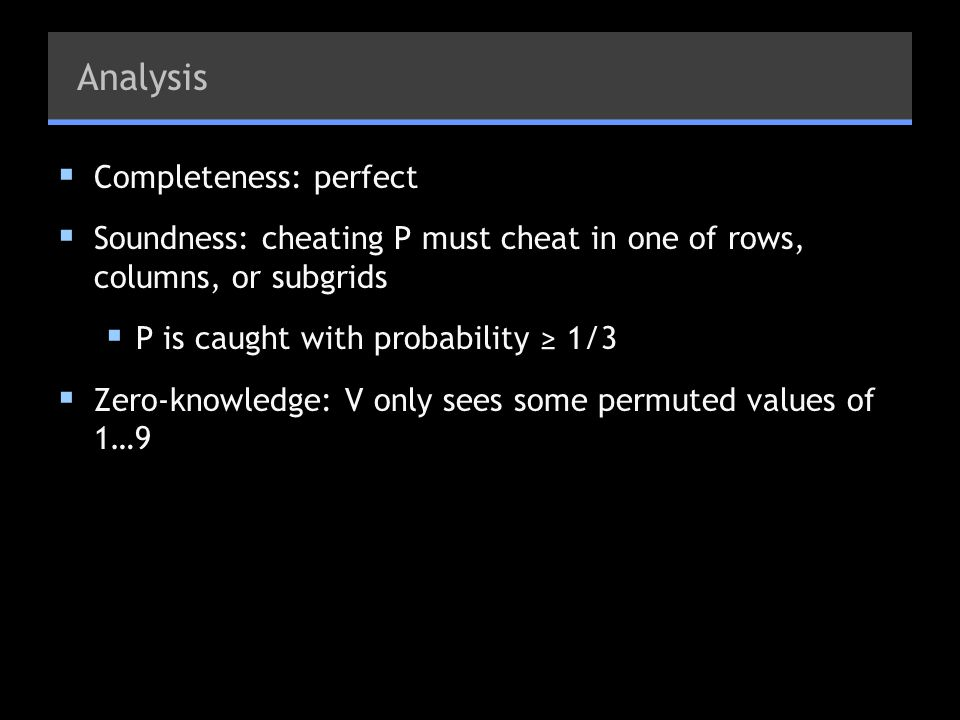 Analysis Completeness: perfect