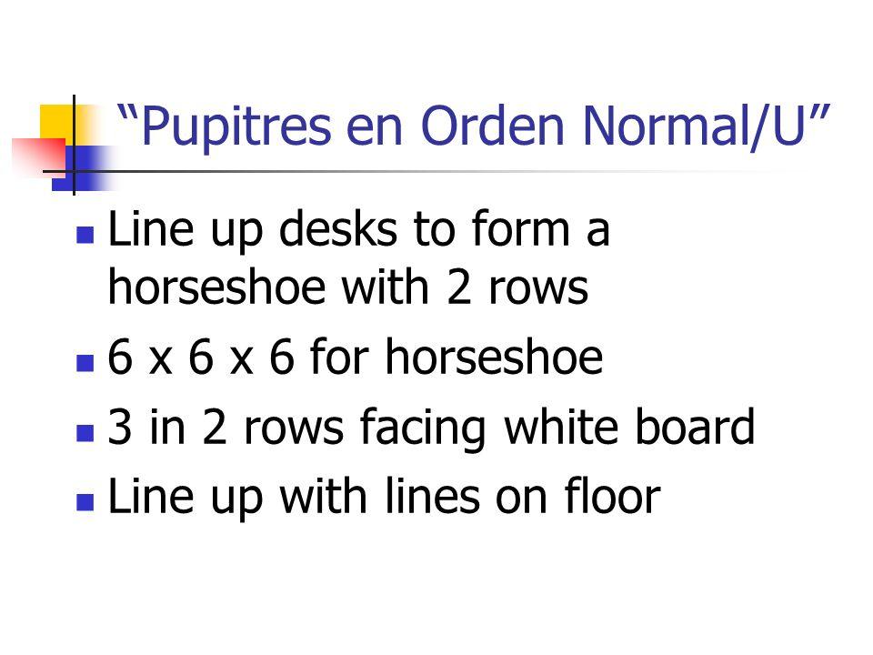 Pupitres en Orden Normal/U
