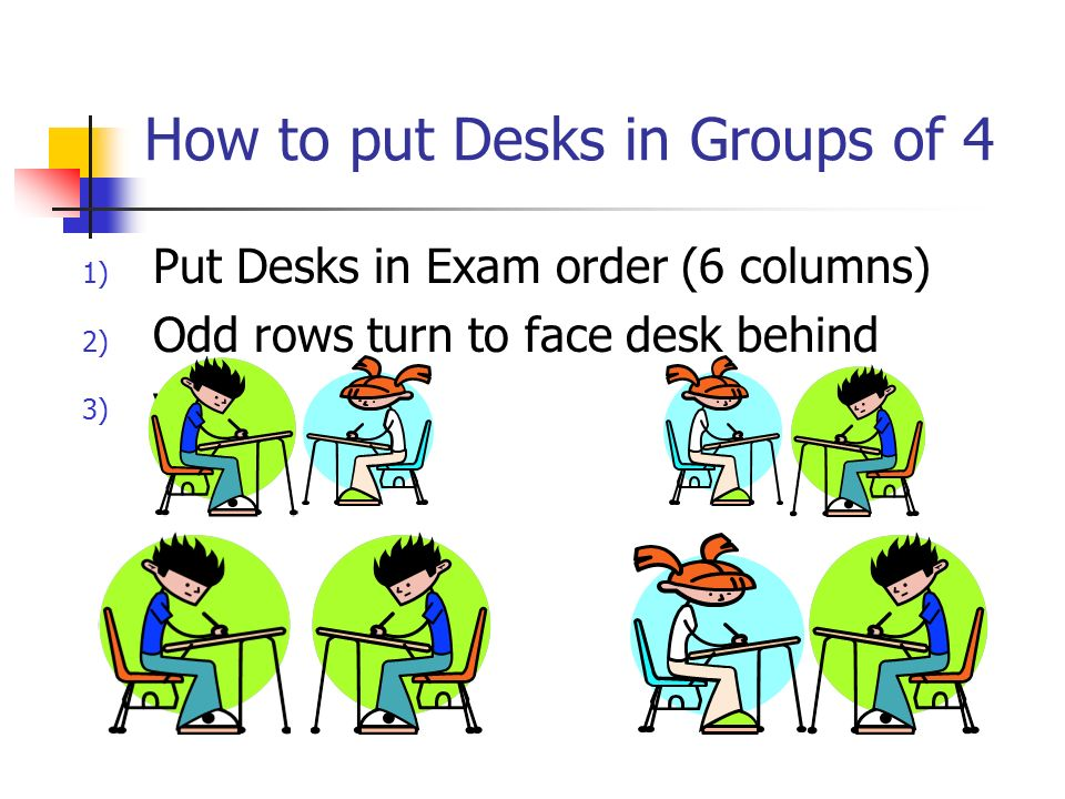 How to put Desks in Groups of 4