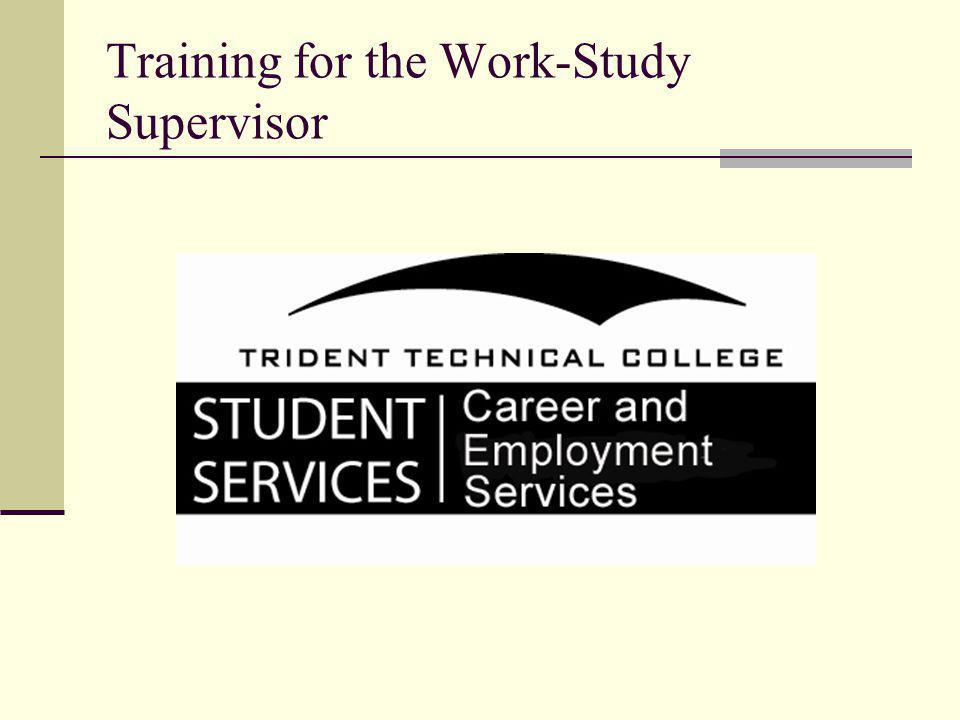 Training for the Work-Study Supervisor