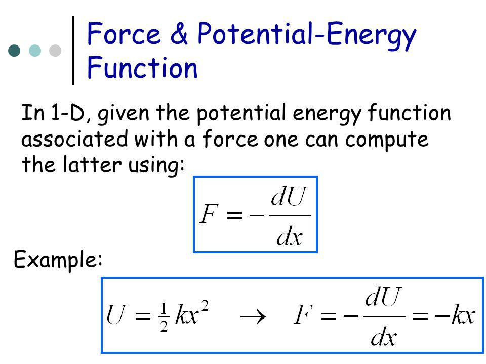 Force & Potential-Energy Function