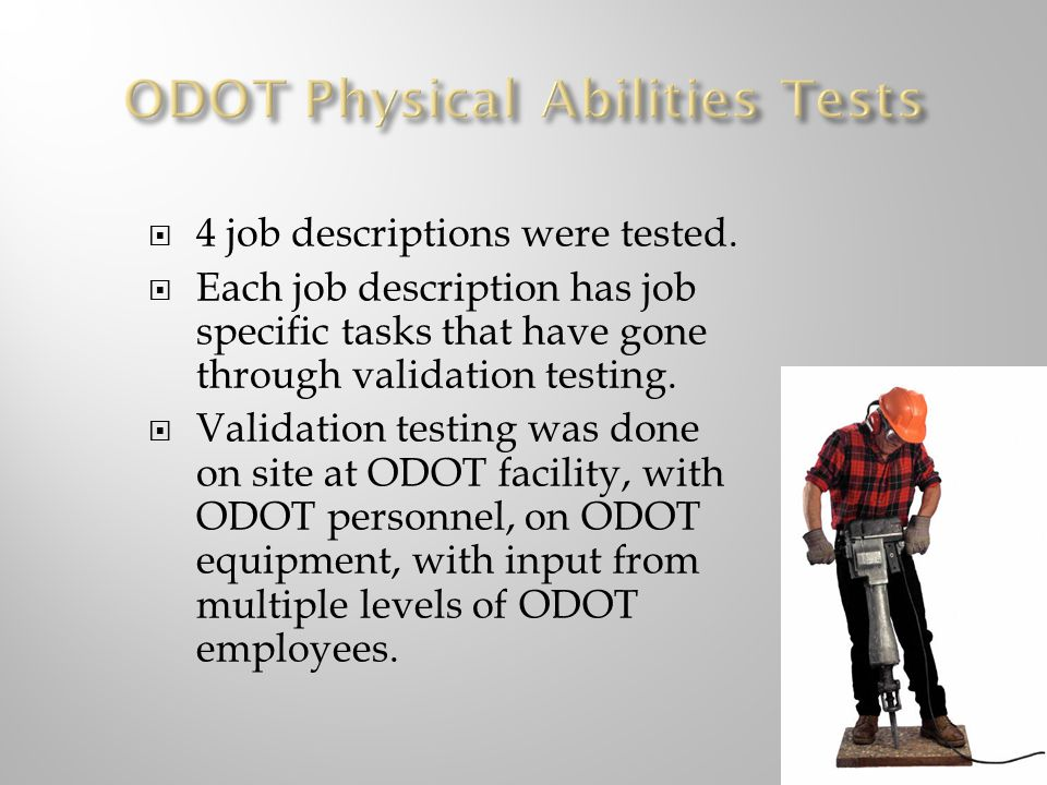 ODOT Physical Abilities Tests