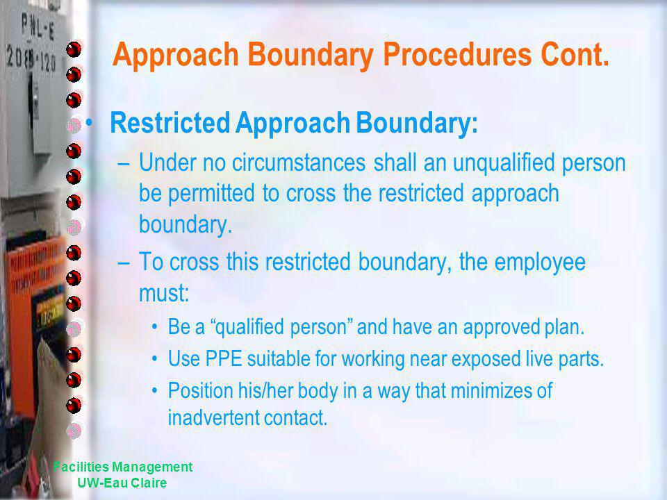 Approach Boundary Procedures Cont.