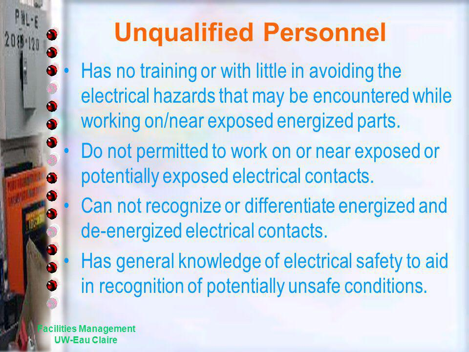 Unqualified Personnel