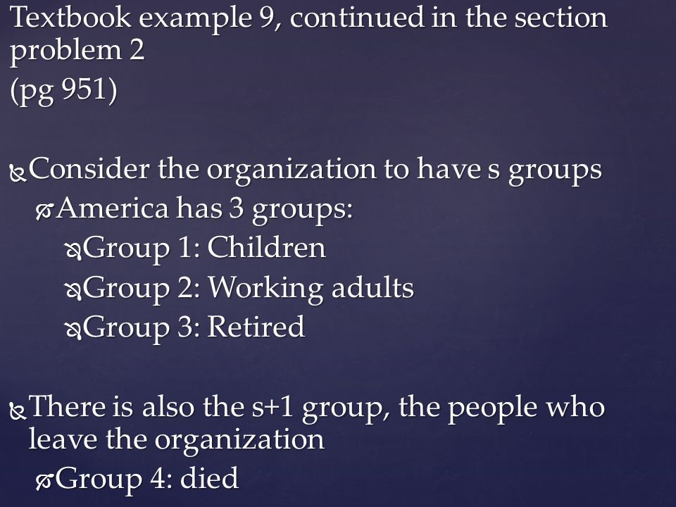Textbook example 9, continued in the section problem 2 (pg 951)