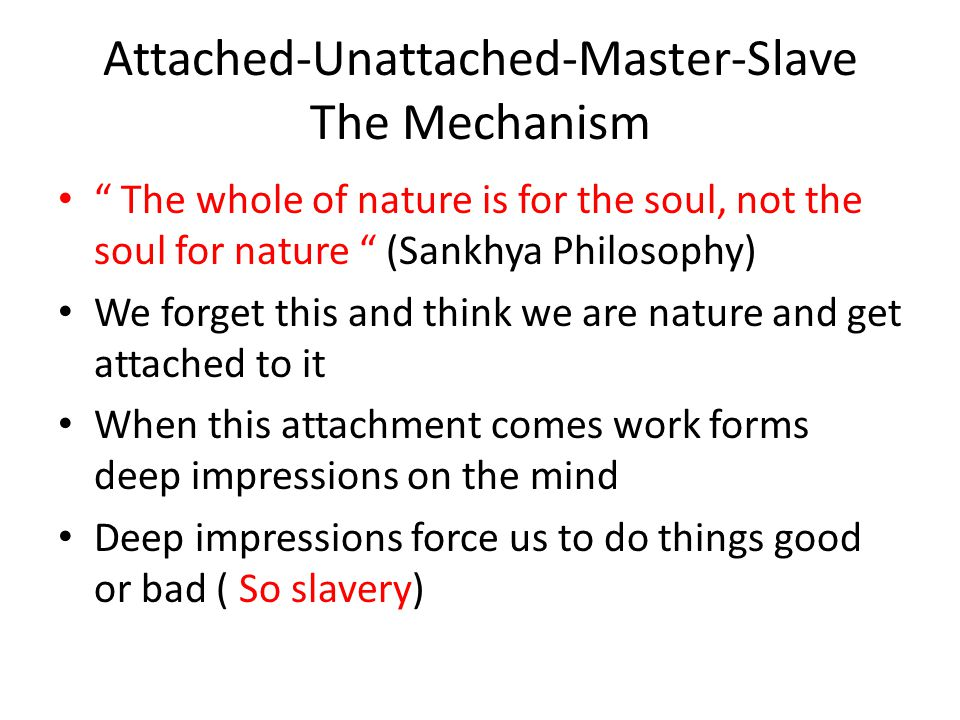 Attached-Unattached-Master-Slave The Mechanism
