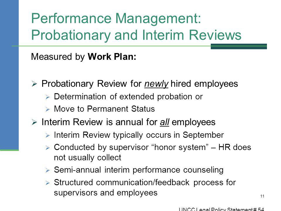 Performance Management: Probationary and Interim Reviews