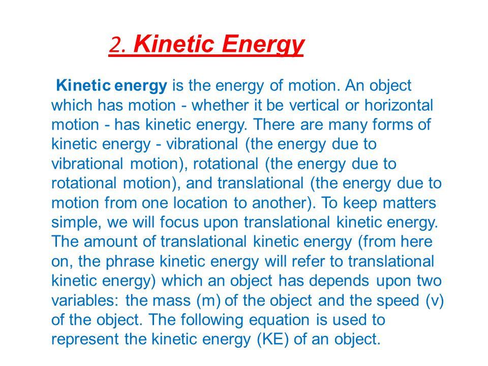 2. Kinetic Energy
