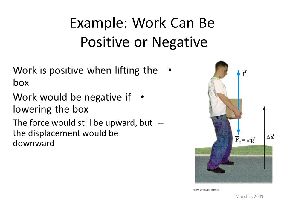 Example: Work Can Be Positive or Negative