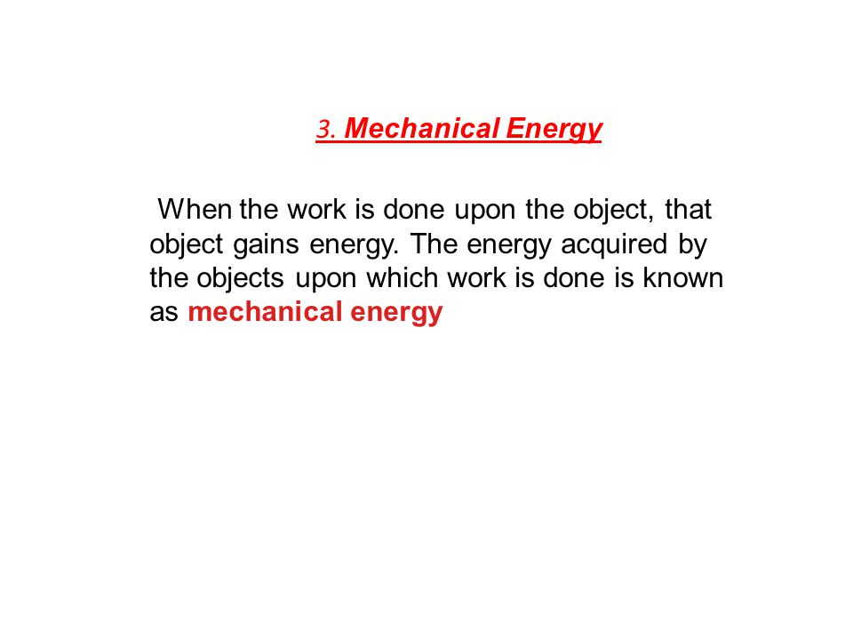 3. Mechanical Energy