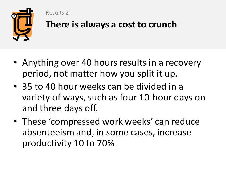 There is always a cost to crunch