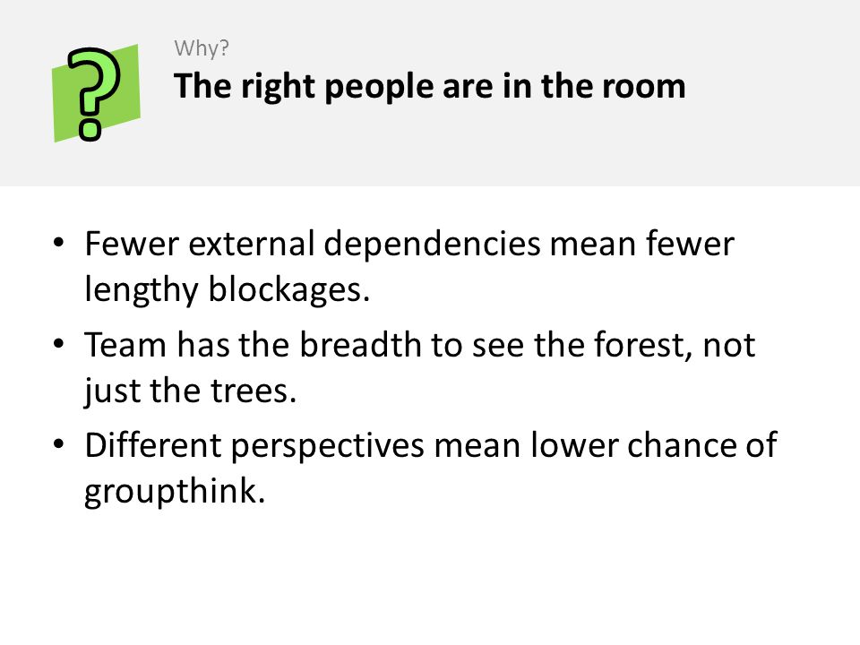 The right people are in the room