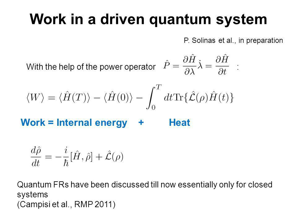 Work in a driven quantum system