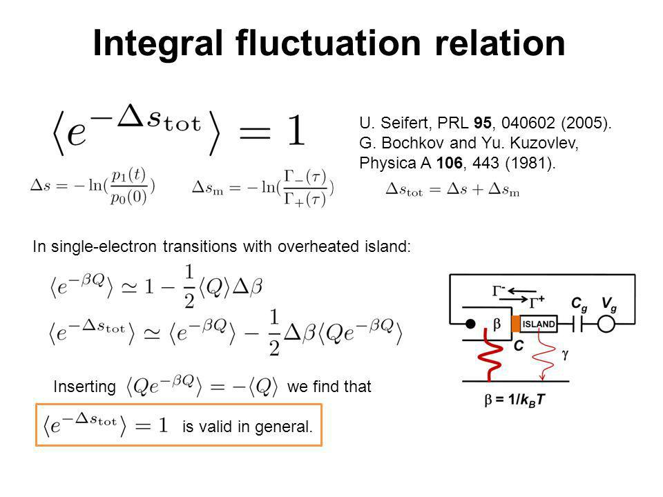 Integral fluctuation relation