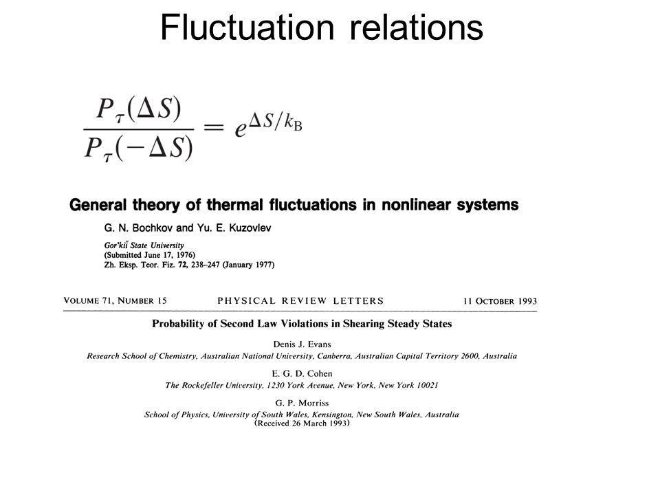 Fluctuation relations