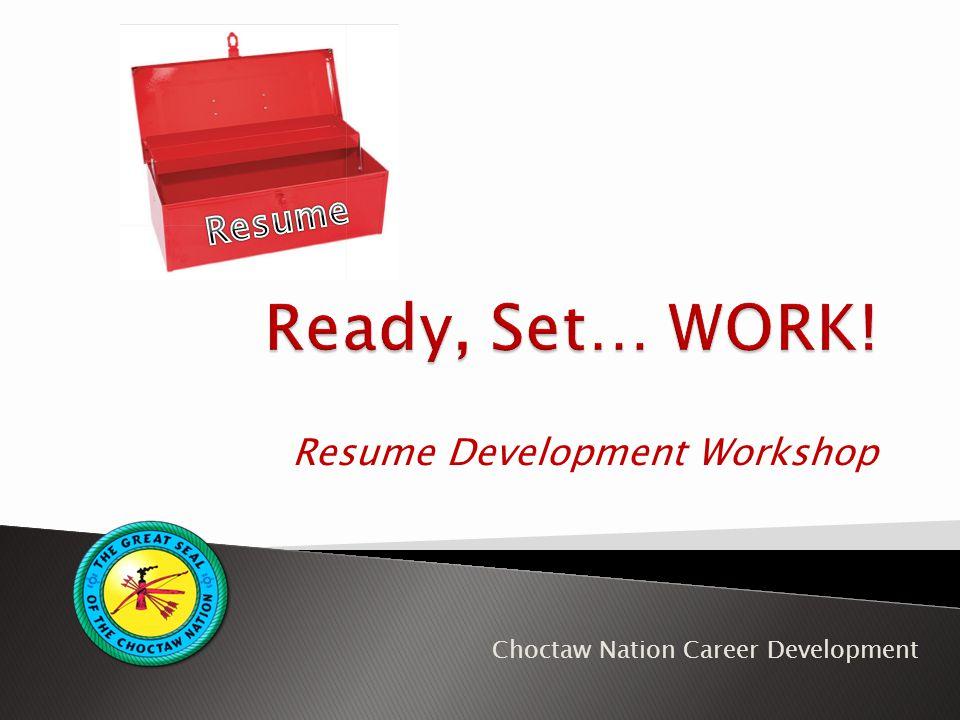 Resume Development Workshop